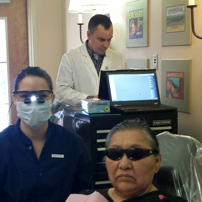 Senior Smiles Clinic with patient and staff in Yakima Washington