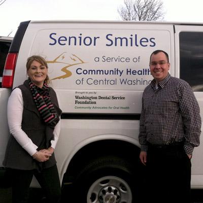 The senior smiles team program bring dental care to at risk seniors