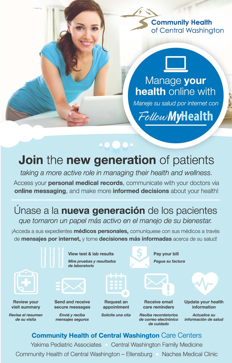 FollowMyHealth Your New Patient Portal | Community Health of Central  Washington
